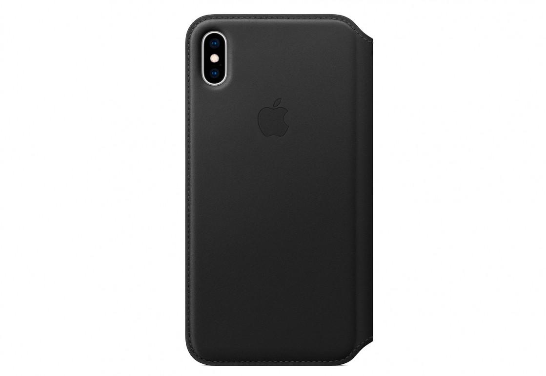 Оригинальный чехол Apple для IPhone XS Max Leather Folio - Black - фото 1