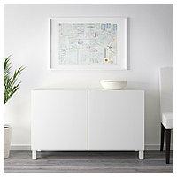 БЕСТО Комбинация для хранения с дверцами, белый, Лаппвикен белый, 120x40x74 см, фото 1