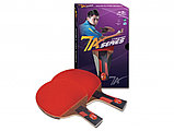 Ракетка для настольного тенниса DOUBLE FISH - 7А-С с чехлом (ITTF), фото 2