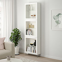 БЕСТО Комбинация д/хранения+стекл дверц, белый, синдвик/сталларп белый прозрачное стекло, 60x22x202 см, фото 1