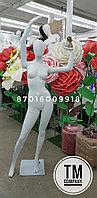 Женский манекен, белый матовый MAF