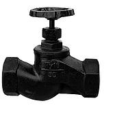 Вентиль (клапан запорный) чугун 15кч18п Ду 15 Ру16, Тмакс=225 °С