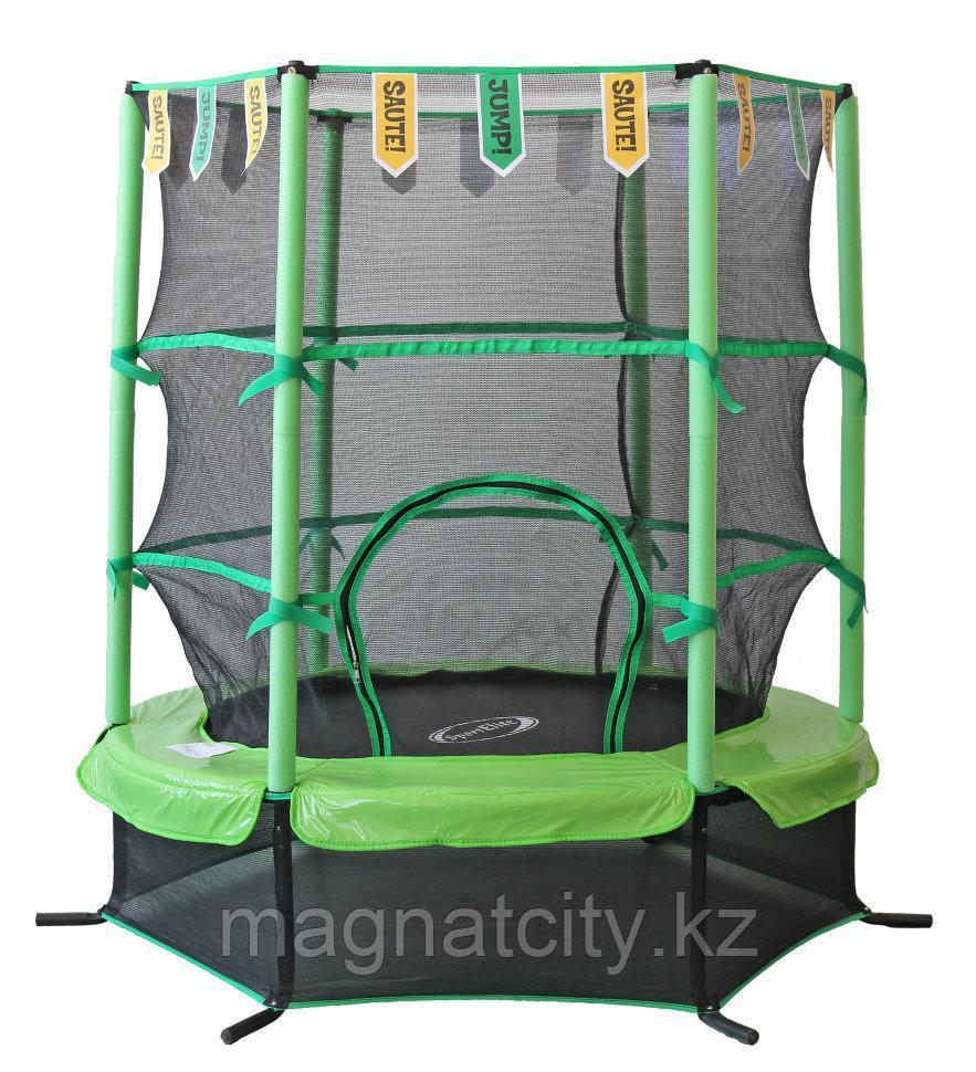 Батут SportElite 1,37м GB30101-4.5FT с защитной сеткой внутрь, салатовый