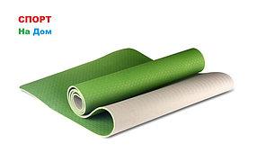 Йога коврик нескользящий Зеленый (размеры: 183*80*0,8 см)