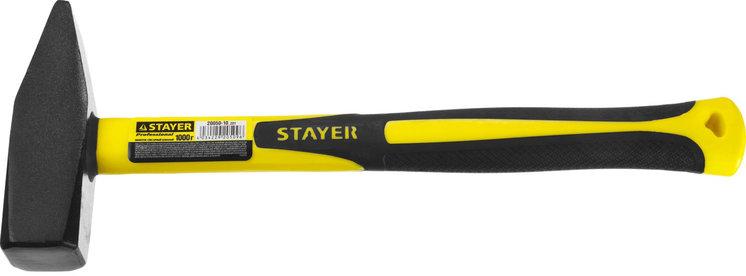 Молоток слесарный с фиберглассовой рукояткой, STAYER 20050-10_z01, 1000 грамм, фото 2