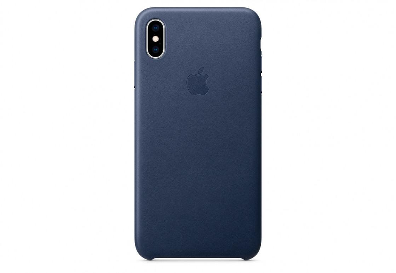 Оригинальный чехол Apple для IPhone XS Max Leather Case - Midnight Blue