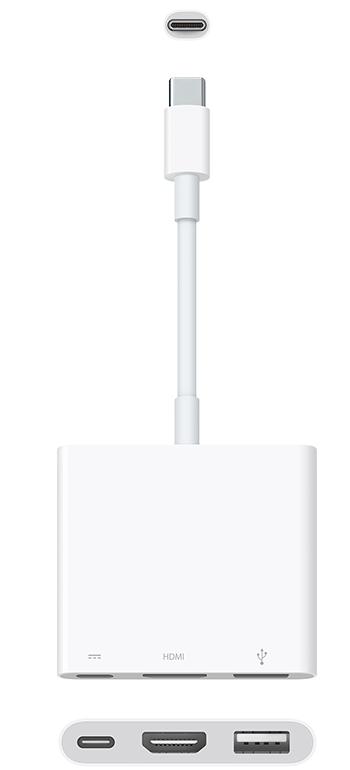 Apple Digital AV Multiport Adapter, Model A2119 (Белый)