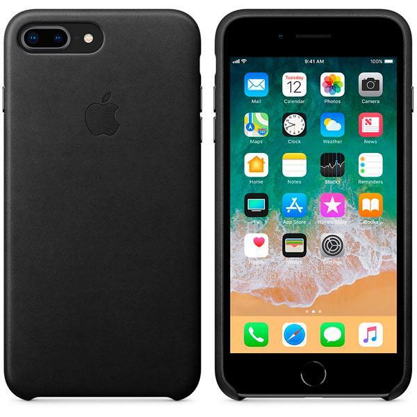 Оригинальный чехол Apple для IPhone 8 Plus / 7 Plus Leather Case - Black - фото 2