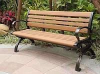 Скамейка садовая со спинкой 1.5м Eco-Wood