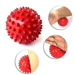 Массажер шарик, массажный мячик для фитнеса 9 см (цвет зеленый), фото 2