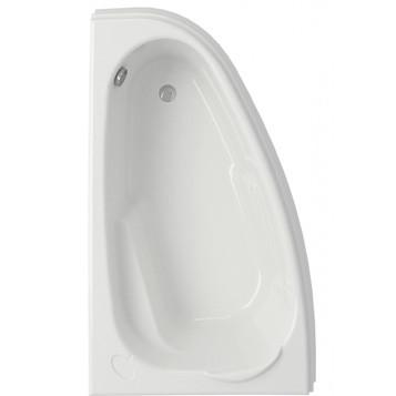 Ванна асимметр Cersanit: JOANNA 160х95, левая, УЛЬТРА белый, толщина 42 мм
