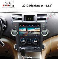Магнитола Toyota Highlander в стиле Tesla ZhiFang
