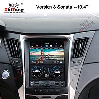 Штатная магнитола тесла для Hyundai Sonata 9