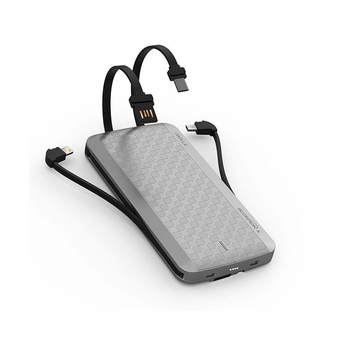 Портативное зарядное устройство iWalk 8000mAh (UBT8000X, Silver)
