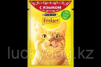 Friskies Язык в соусе влажный корм для кошек, пауч 85 гр.