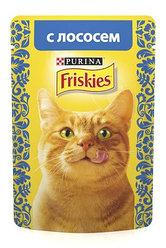 Friskies С лососем в подливе влажный корм для кошек, 85 гр