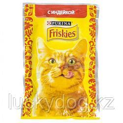 Friskies С индейкой в подливе влажный корм для кошек, 85 гр