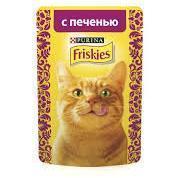 Friskies С печенью в подливе влажный корм для кошек, 85 гр