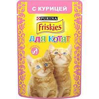 Friskies Влажный корм для котят с курицей, 85 гр