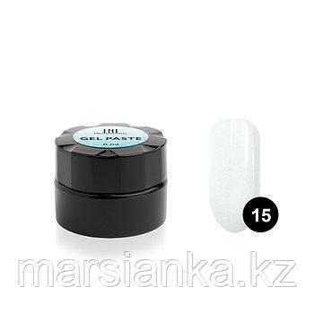 Гель-паста для дизайна ногтей TNL #15 (белая) без л/с, 6мл