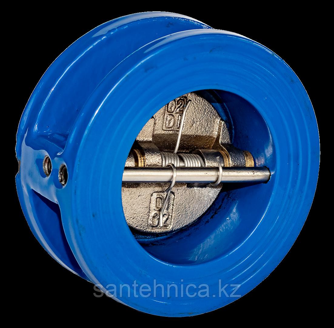Обратный клапан 2/створ чугун Ду80 Ру16 фл створки чугун