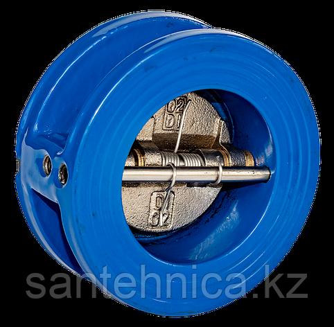 Обратный клапан 2/створ чугун Ду80 Ру16 фл створки чугун, фото 2