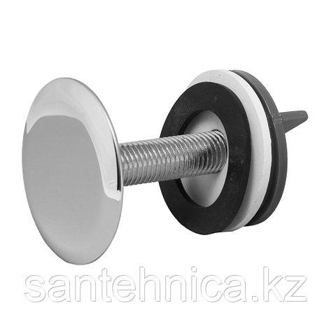 Заглушка отверстия умывальника хром L=70 мм D=50 мм, фото 2