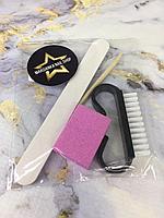Одноразовый набор Пилка+баф+щетка+палочка