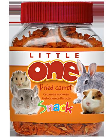 Кормовая добавка с морковкой, Dried carrot Little One - 200 гр