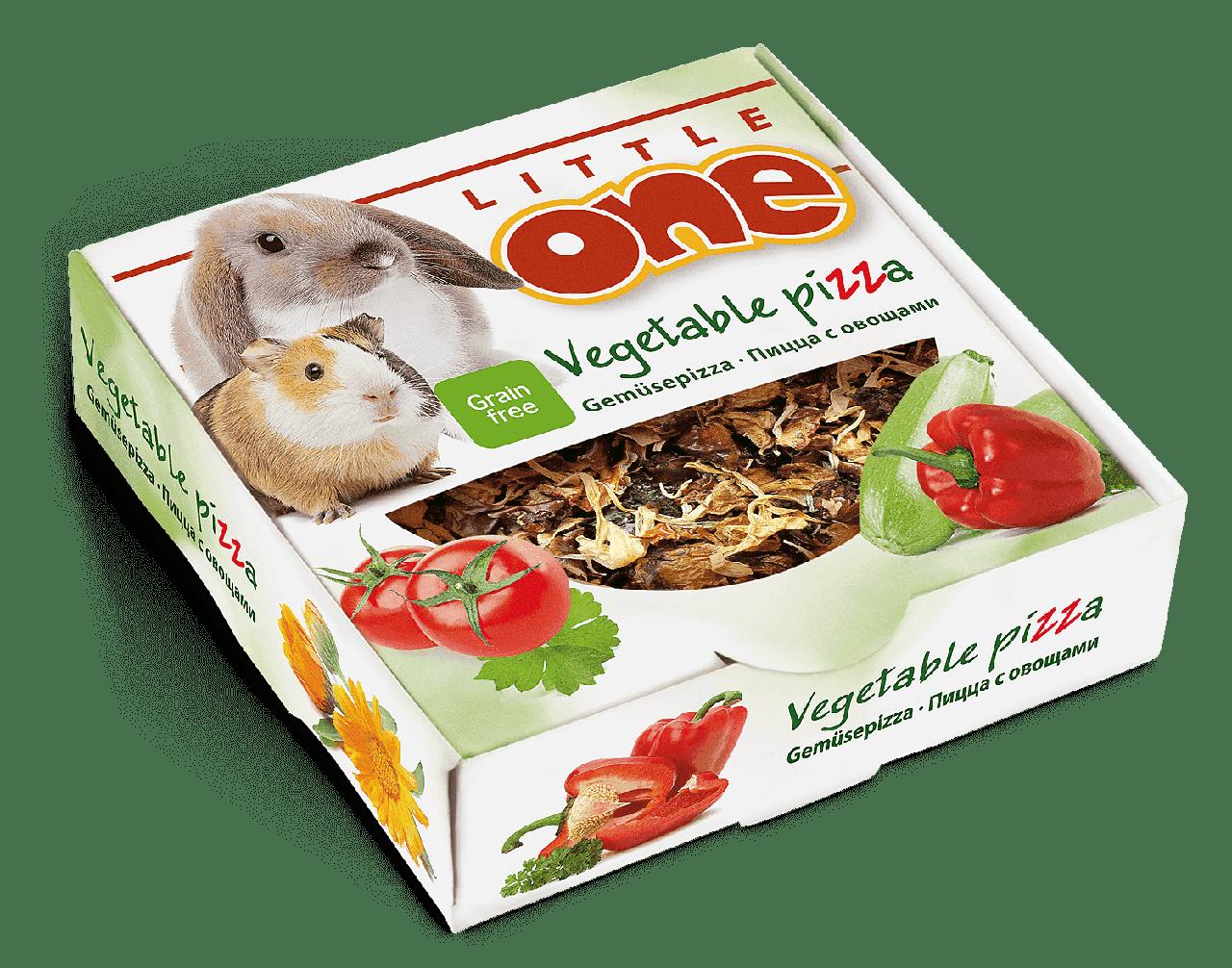 Лакомство для грызунов, Пицца с овощами, Little One - 55 гр