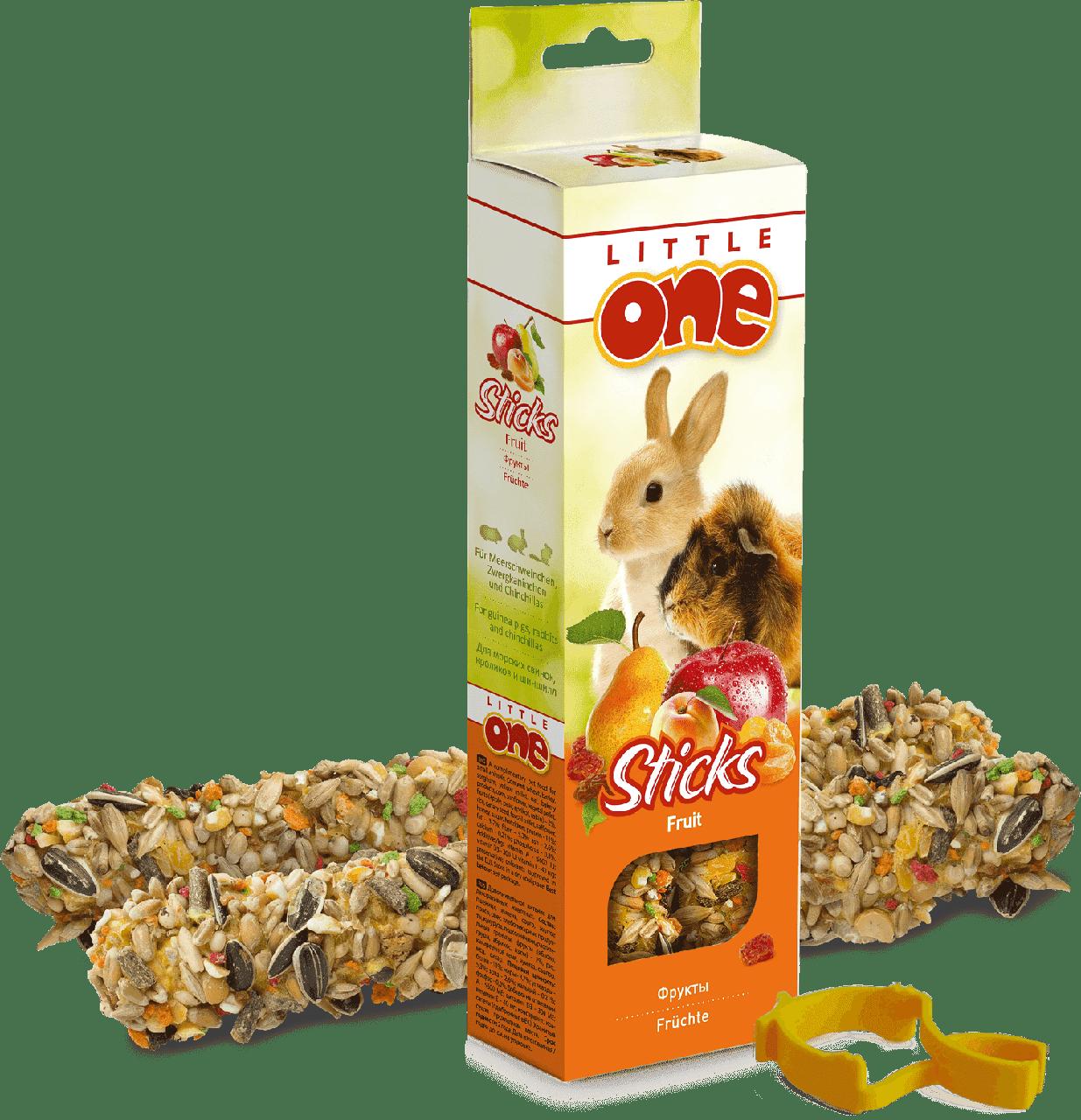 Лакомство для кроликов с фруктами, Little One - 2 шт
