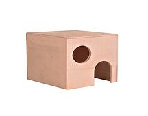 Деревянный домик для хомяков - 10 × 10 × 11 см