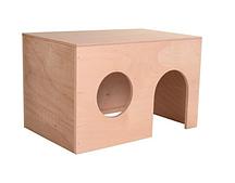 Деревянный домик для морских свинок - 24 × 15 × 15 см