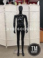 Подростковый манекен, чёрный глянцевый, полипропиллен