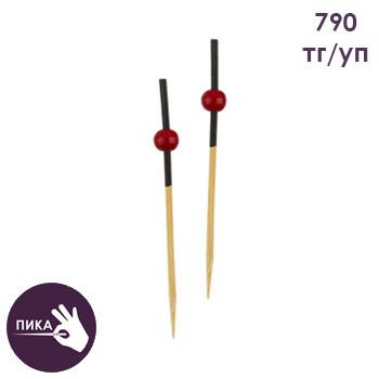 """Пика """"Красная жемчужина"""" 70 мм, бамбук"""