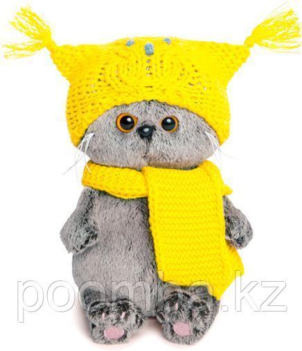 Кот Басик Baby в шапке-сова и шарфе 17 см