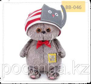 Кот Басик Baby в шапочке с котиком 20 см