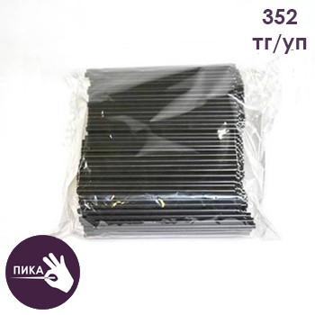 Трубочки для коктейля прямые d=5 мм, L=125 мм, черные «Мартини»