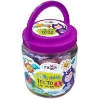 Гамма Тесто для лепки Гамма, Малыш, 8 цветов по 25 гр, формочка.
