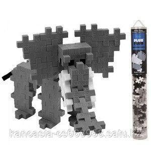 Plus Plus Игрушка, Plus Plus Разноцветный конструктор для создания 3D моделей, серый