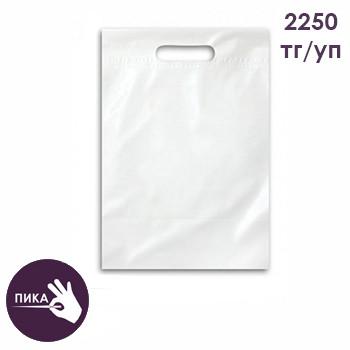 Пакет полиэтиленовый 40 см х 50+3 см, белый