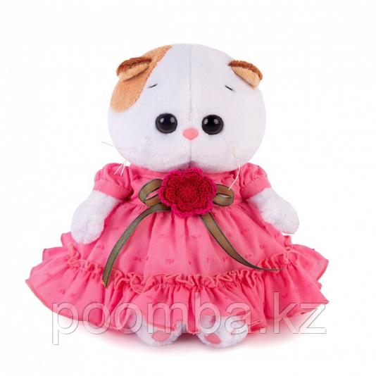 Кошечка Ли-Ли BABY в платье с вязаным цветочком 17 см