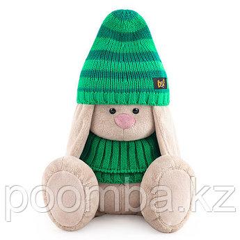 Зайка Ми в зеленой шапке и снуде (большой)