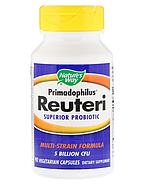 Nature's Way, Primadophilus Reuteri, улучшенный пробиотик, 90 вегетарианских капсул, фото 3