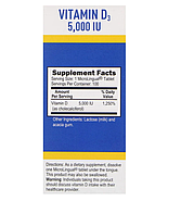 Superior Source, Витамин D3 Extra Strength, 5000 МЕ, 100 быстрорастворимых таблеток MicroLingual, фото 3
