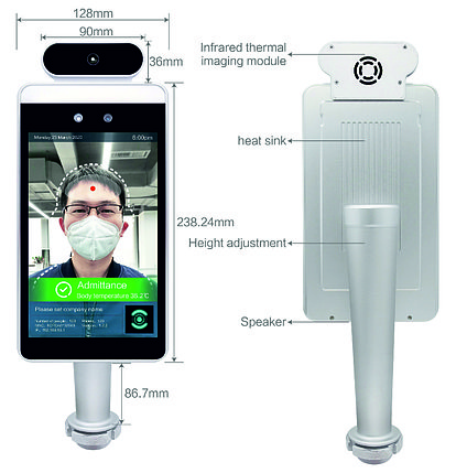 Терминал распознавания лиц и определения температуры, фото 2