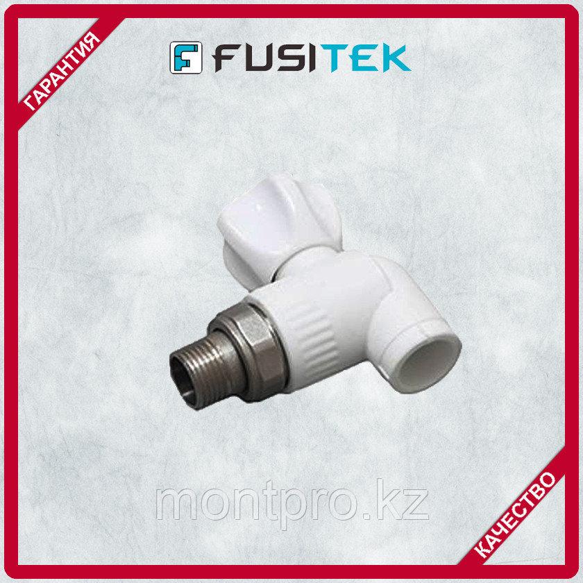 Угловой радиаторный кран Fusitek