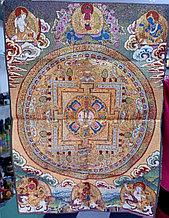 Тибетская тханка Мандала Калачакры