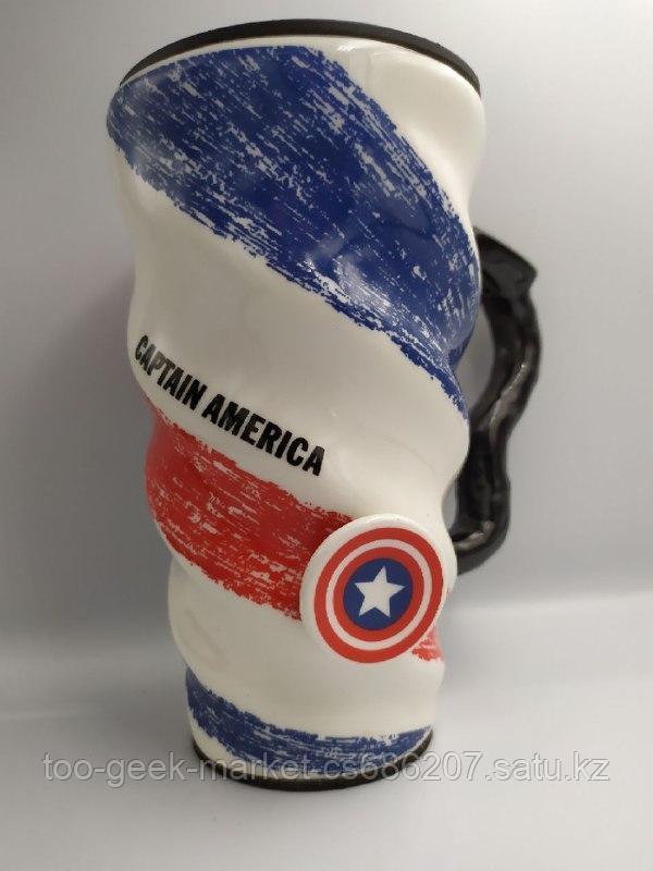 "Кружка спиральная ""Капитан Америка"""