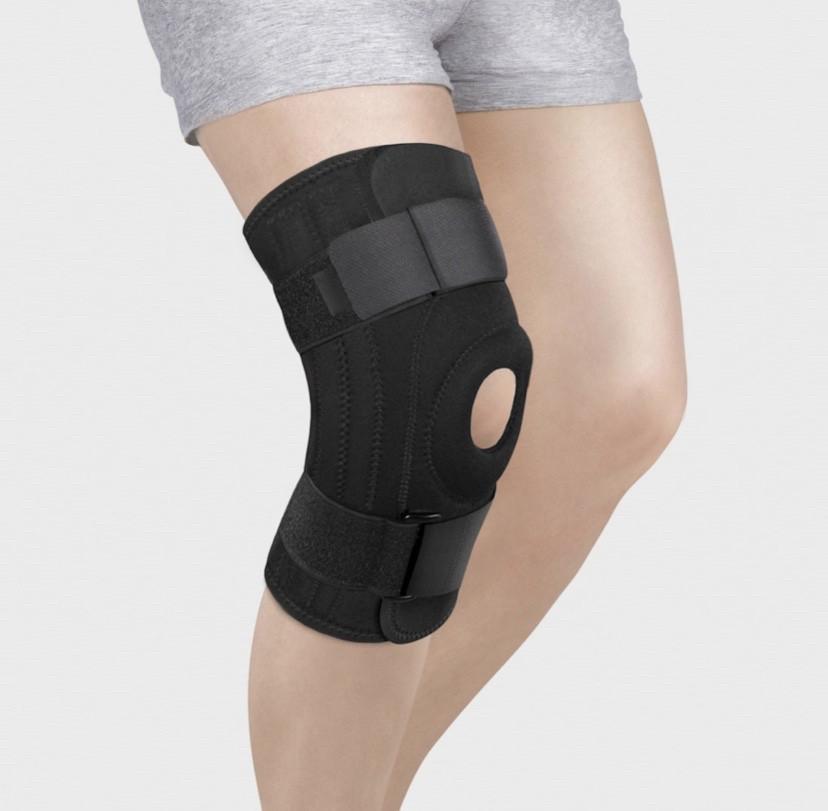 Бандаж на коленный сустав неразъемный со спиральными ребрами жесткости - фото 1
